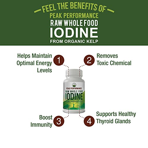 Raw Whole Food Iodine From Organic Kelp (Ascophyllum Nodosum) By Peak Performance. Thyroid Support Supplement. Great For Metabolism, Energy and Immune Boost - 60 Vegan Capsules by Peak Performance Coffee (Image #3)