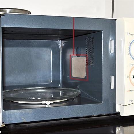 Amazon.com: 4pcs Microondas horno Mica Wave guía cubierta de ...