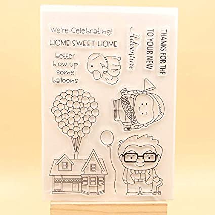 Amazon Com Scrapbook Paper Stamps Craft Sweet Home Clear Stamps