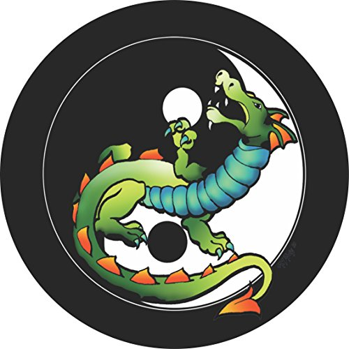 Yin Yang Chinese Dragon Spare Tire Cover for Jeep RV Camper VW Trailer etc(Select popular sizes from drop down menu or contact us-ALL SIZES AVAILABLE)
