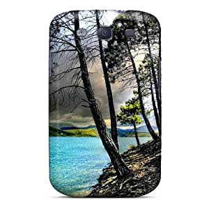 For Galaxy S3 Premium Tpu Case Cover Gloomy Day At Lake Protective Case
