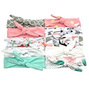 JLIKA Baby Girl Headbands 10 Pack Cotton Knotted Headband Headwrap