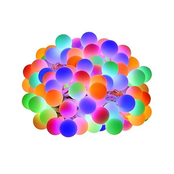 LE Catena Luminosa 13M 100 Lampadina LED RGB, Luci Stringa Impermeabile per Esterno ed Interno, 8 Modalità di Illuminazione e Funzione Timer, Ideale per Decorazione Casa, Natale, Feste, Giardino 1 spesavip