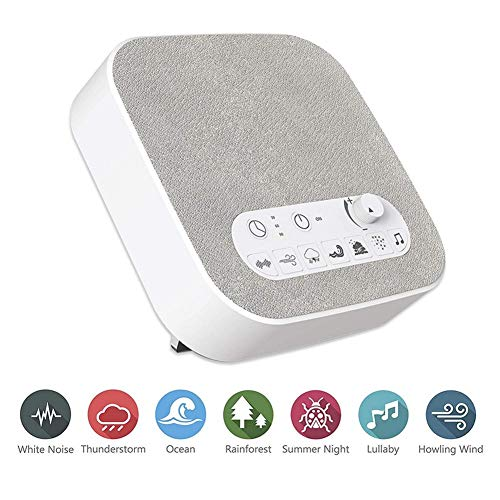 White Machine Sleep Unique Timer Setting Adults Cancelling Noisemaker Travel Timed Instrument