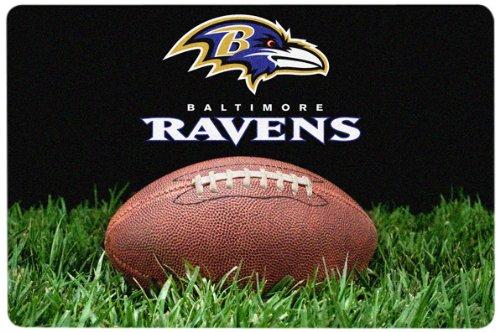 NFL Baltimore Ravens Classic Football Pet Bowl Mat, Large (Nfl Team Pet Mat)