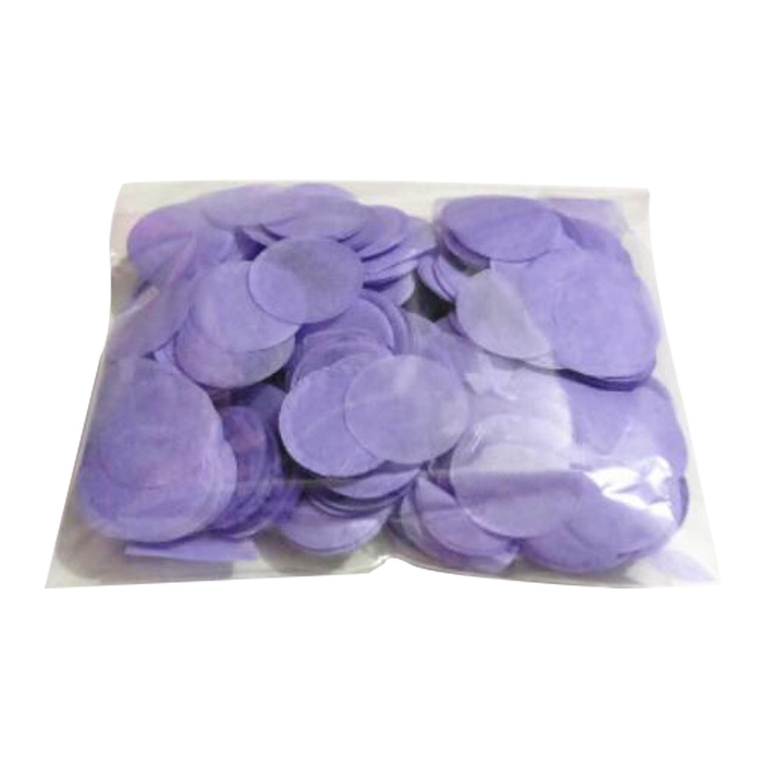 Joylive Bright Round Tissue Paper Confetti 30G Per Bag 1 Inch (2.5Cm) Light Purple