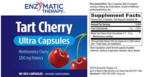 Enzymatic Therapy Tart Cherry Ultra Vegetarian Capsules, 90 Count by Enzymatic Therapy (Image #2)