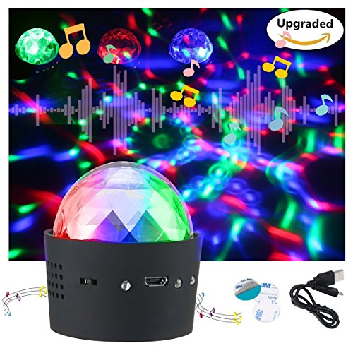Car Disco Light——Megoal Usb Portable Party Lights Sound Activated Auto DJ Light Stage Light Bulbs for Karaoke Family KTV Concert Xmas Halloween Effect Lamp (1 Pack)