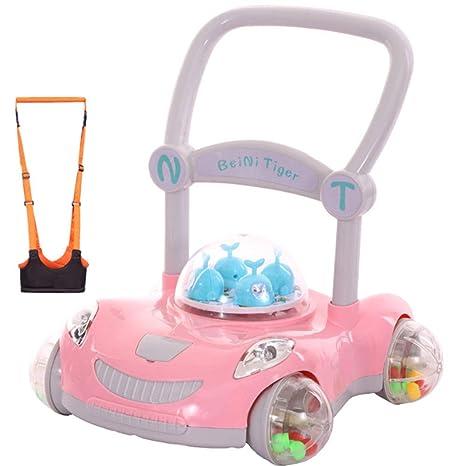 Caminante para niños carrito de bebé antivuelco con luz ajustable ...