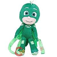 "Disney 14"" PJ Masks Stuffed Animals Backpack Plush Doll 1Pc Green Color NEW"