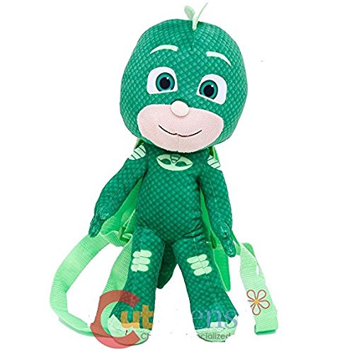 PJ Masks Gekko Plush Doll Backpack Soft Stuffed Tou Costume Bag
