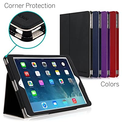 iPad Air Case, [CORNER PROTECTION] CaseCrown Bold Standby Pro with Sleep / Wake, Hand Grip, Corner Protection, & Multi-Angle Viewing Stand