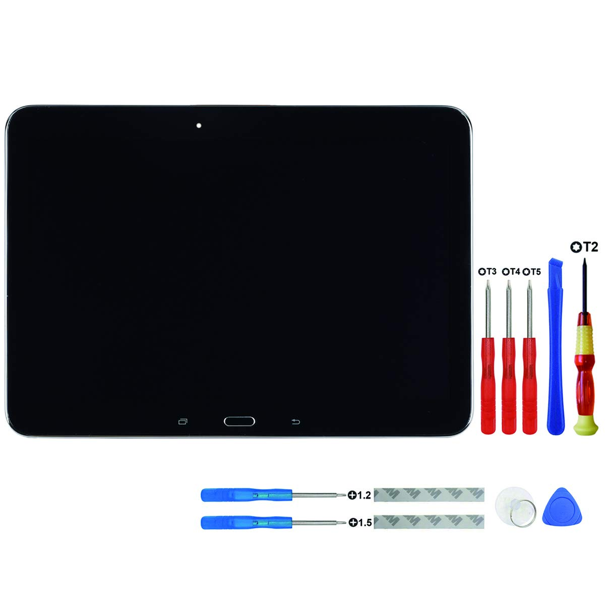 Swark LCD Display Compatible with Samsung Galaxy Tab Tab 4 10.1 (SM-T530, SM-T531, SM-T535) (Black with Frame) Touch Screen Digitizer Replacement