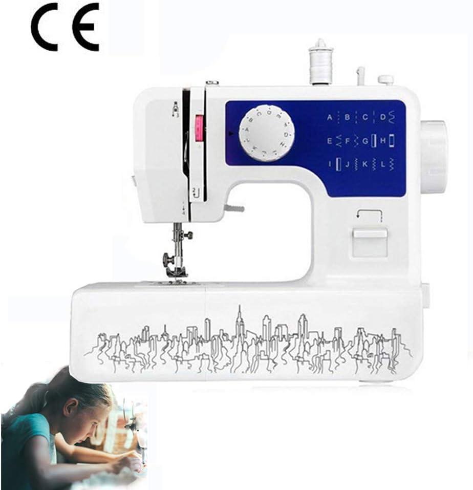 ACLBB Práctico Máquinas De Coser con Luz 12 Puntadas DIY Doble Velocidad Eléctrica Portátil Coser Electrónica Mini
