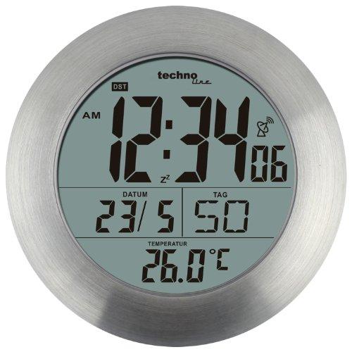 technoline wt 3000 horloge de salle de bains radio pilote en aluminium amazonfr cuisine maison - Pendule Salle De Bain