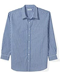 Men's Big & Tall Long-Sleeve Plaid Casual Poplin Shirt fit by DXL