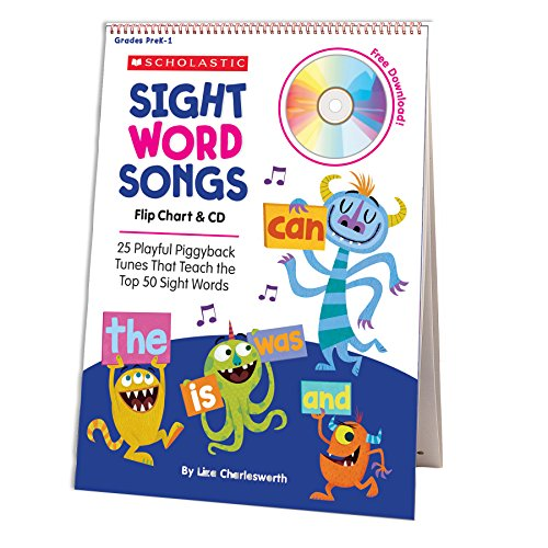 (Sight Word Songs Flip Chart & CD: 25 Playful Piggyback Tunes That Teach the Top 50 Sight Words)