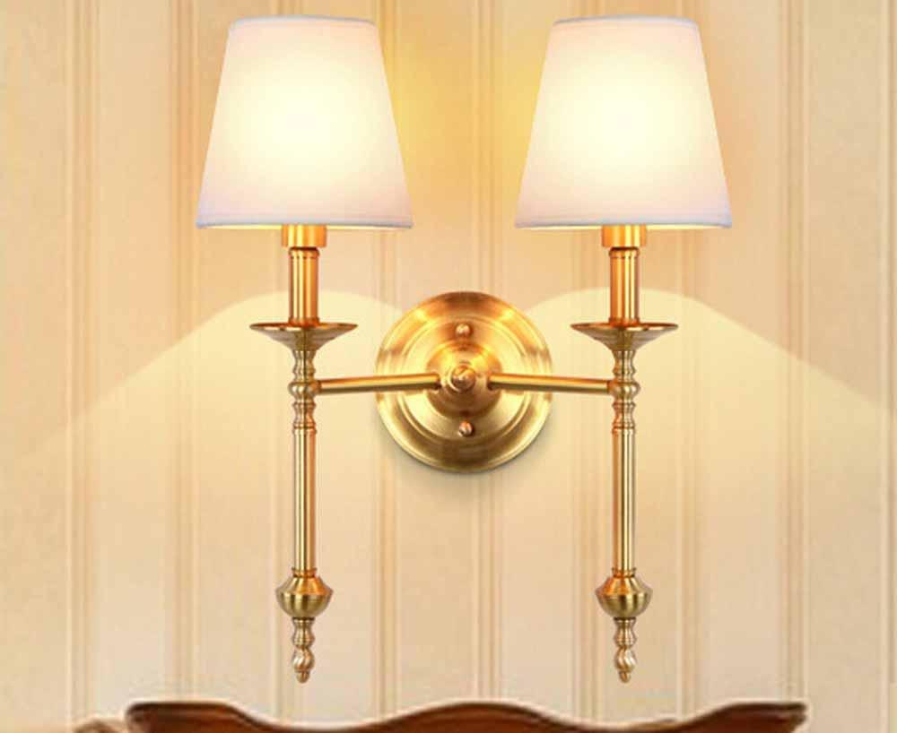 FAYM - Moda Al Posto Letto Camera Da Letto Decorative Lampade A Parete, Semplice Soggiorno Corridoio Rame Lampada Da Parete , B
