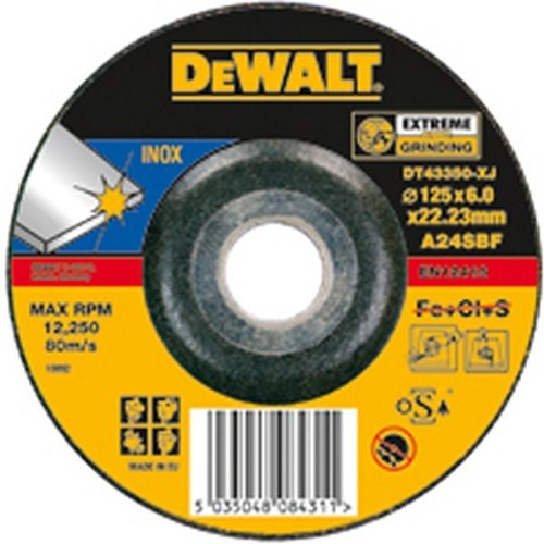 Dewalt Extreme, Cutting Disc 125  x 22.2  x 1.6  mm DT43341  Accessory Cutting Disc 125 x 22.2 x 1.6 mm DT43341 Accessory DT43341-XJ