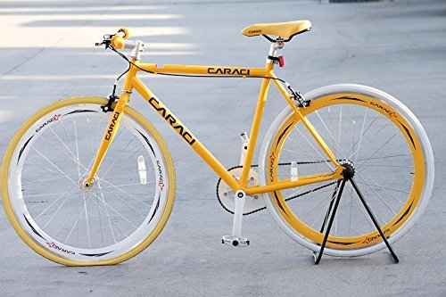Caraci CBF2ST53YL Steel Frame Fixed Gear Bike Yellow 53cm [並行輸入品] B06XFWGT6R