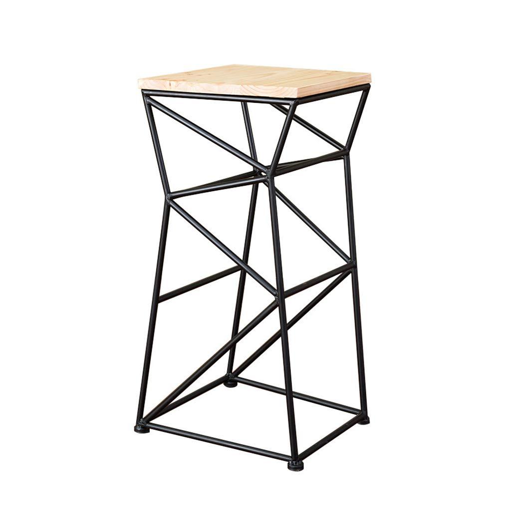 Wood color NYJS Bar Stool,Bar Chair Wooden Bar Chair Wooden Bar Stool Wooden Breakfast Bar Stool, Kitchen Breakfast Bar Stool Solid Wooden Stool,high 75cm (color   Wood color)