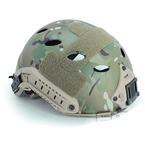 Ajustable tipo PJ rápido casco SWAT combate Multicam MC (M/L) para ejército estilo militar para Paintball táctico tiro CQB: Amazon.es: Deportes y aire libre