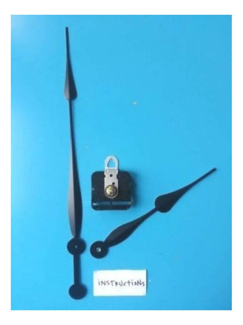 24''+ Diameter Complete Clock Kit! Long Shaft Movement w/12'' Spade Hands (512-12)