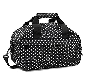 Members - Essential on-board segundo compatible con ryanair equipaje de mano black & white polka dots 35 x 20 x 20 cm - 0.5 kg