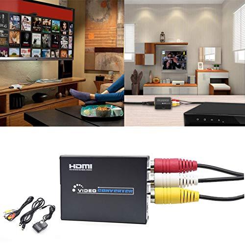 (❤️Jonerytime❤️RCA AV HDMI CVBS to HDMI Adapter for HDTV TV PS3 PS4 PC DVD Projector Black)