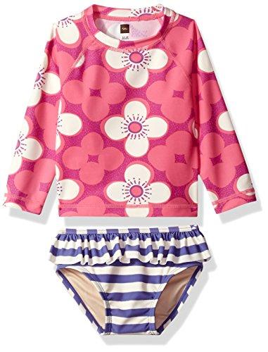 Tea Collection Girls Curl Baby Swim Set, Astilbe Pink, 12_18