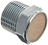 Parker 047120012 Sintered Bronze Breather Vent, 3/4 '' NPT Male, 1'' Length, 150 psi