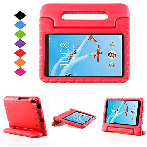 Lenovo TAB 4 8 Plus Case - LTROP Portable Light Weight Shock Proof Convertible Handle Stand Case Cover for Lenovo TAB 4 8 Plus Tablet (2017 Release), Red
