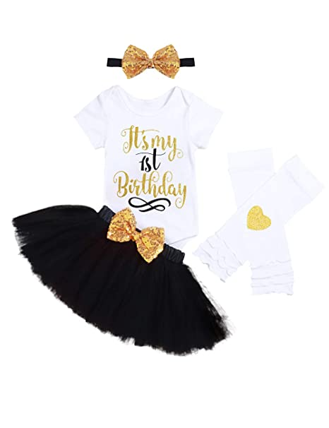 OwlFay Toddler Baby Girls Its My 1//2 1st 2nd Birthday Outfits 4PCS Set Romper Tutu Skirt Sequin Bow Headband Princess Party Dress Cake Smash Photo Shoot Costume Clothes