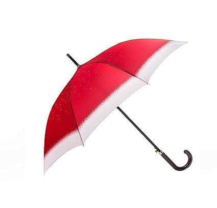 Sombrilla Paraguas Estrellado Grande Paraguas Sombrilla Paraguas Cortaviento automático Mujer y Hombre de Negocios (Color