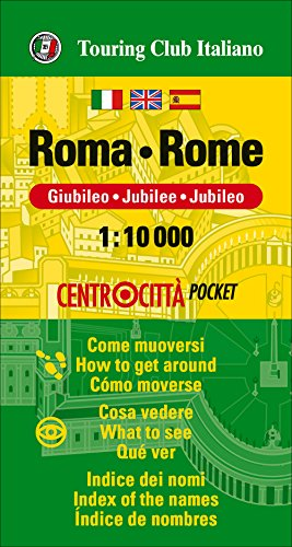 Rome Pocket Map (English, Spanish, French and Italian Edition)