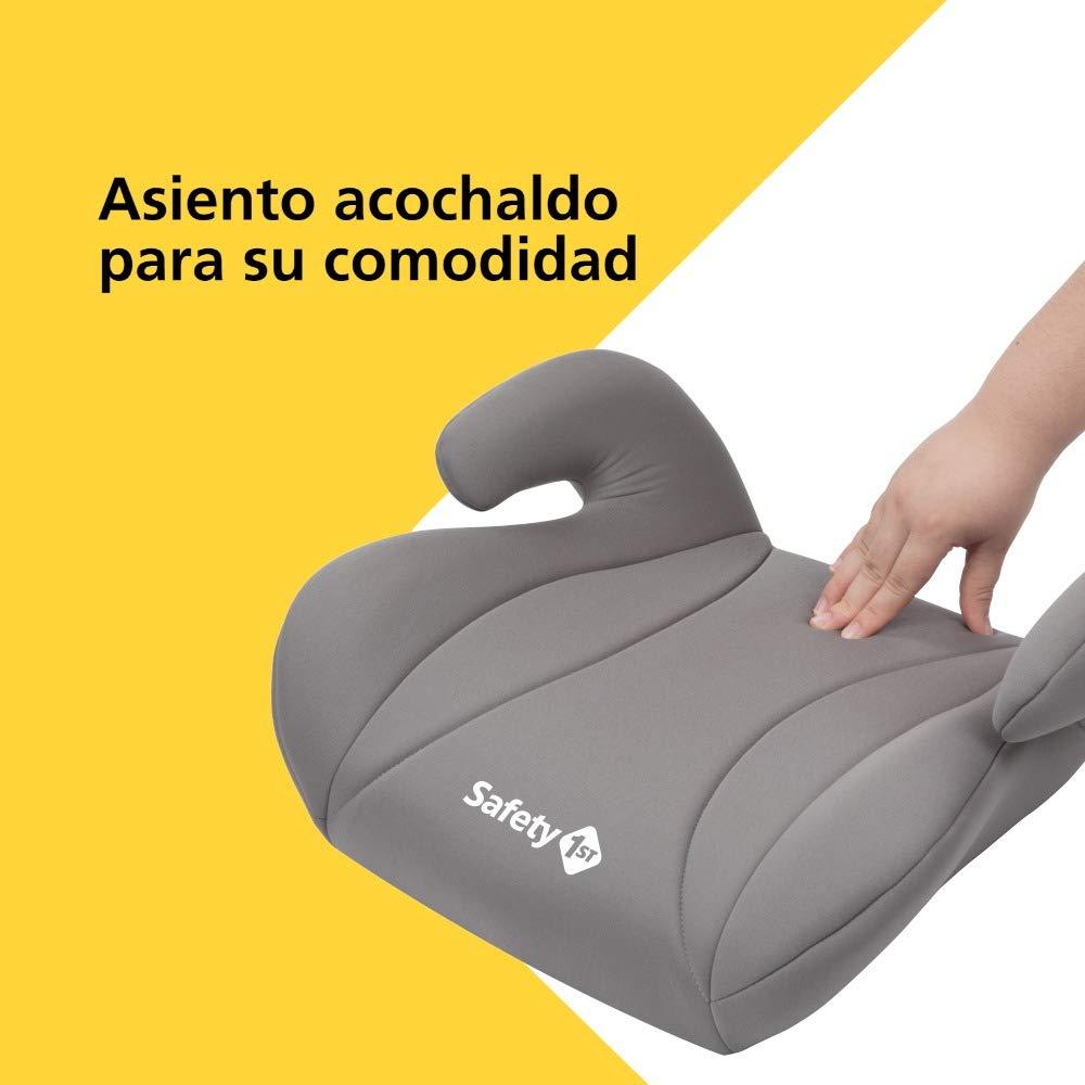 Safety 1st MANGA Hot Grey - Silla de auto Elevador, para uso sólo con cinturón, grupo 3, 25-36 Kg, color gris