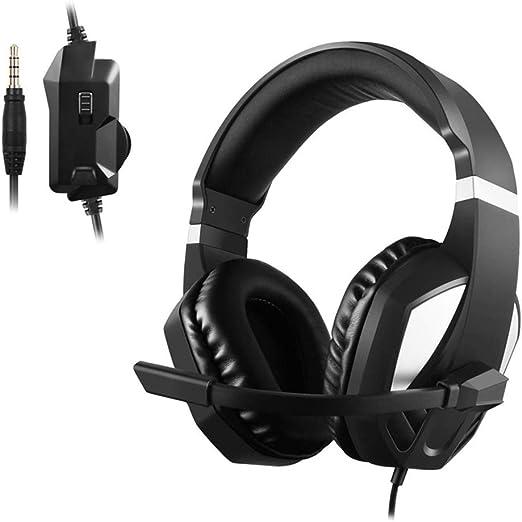 Auriculares Gaming, 3.5 MM Interfaz Cascos Gaming, Auriculares De ...