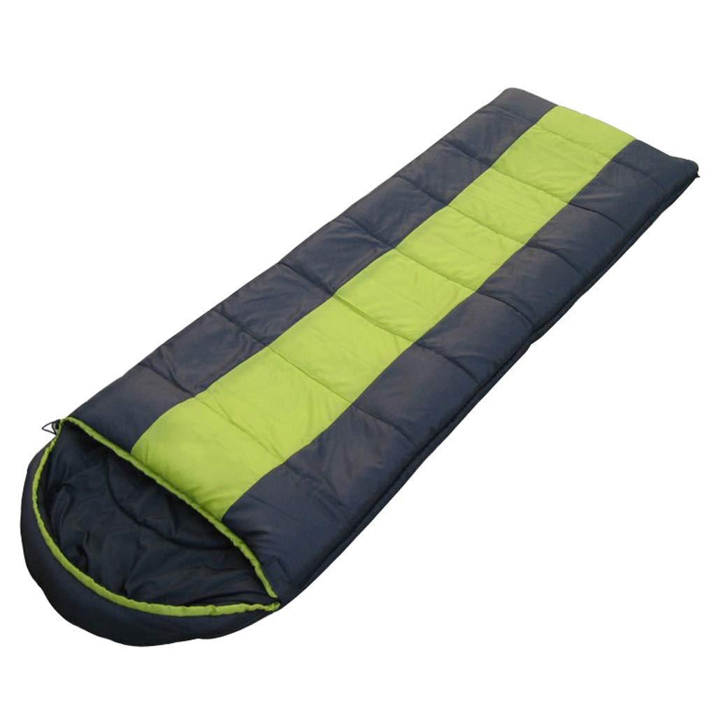 Busta sacco a pelo-leggero portatile, impermeabile, caldo e comfort, con sacco a compressione, grande For3-4 stagione viaggiando, campeggio, trekking, backpacking attività all'aperto.,verde,1800G