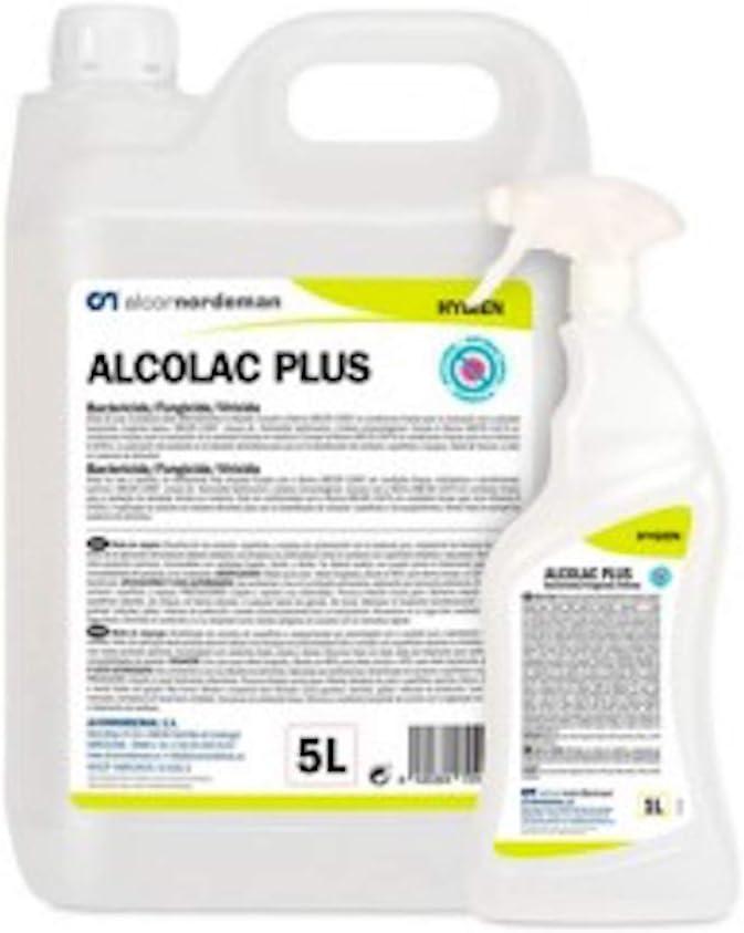 ALCOLAC PLUS Limpiador Bactericida, Fungicida y Virucida 1 Litro