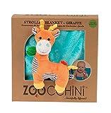 ZOOCCHINI Stroller Buddy Blanket, Giraffe/Aqua