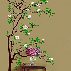 Amazoncom Vinyl Wall Art Decal Sticker Asian Tree Leaves Blossom - Vinyl wall decals asian