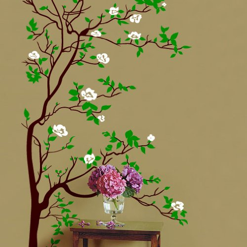 Vinyl Wall Art Decal Sticker Asian Tree Leaves Blossom Big 6ft Tall #318 - Available on Amazon