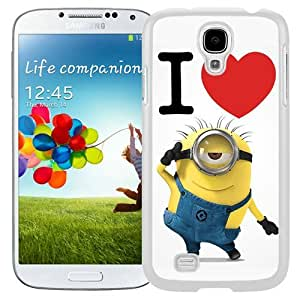Hot Sale And Popular Samsung Galaxy S4 I9500 Case Designed With Despicable Me 8 White Samsung Galaxy S4 Phone Case