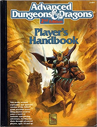 Advanced dungeons and dragons: 2nd edition player's handbook.