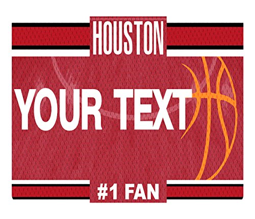 BleuReign(TM) Personalized Custom Name Basketball Houston License Plate Square Refrigerator Fridge Magnet