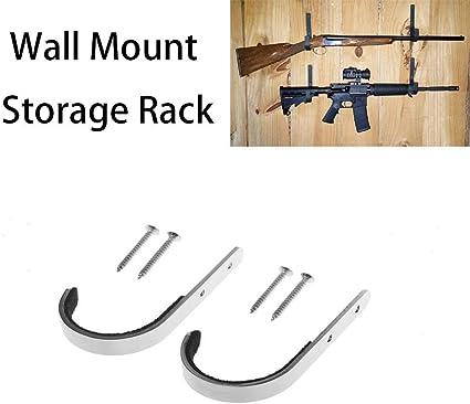 10 PAIR Gun Rack Shotgun Hooks Rifle Hangers Archery Bow Wall Mount Storage