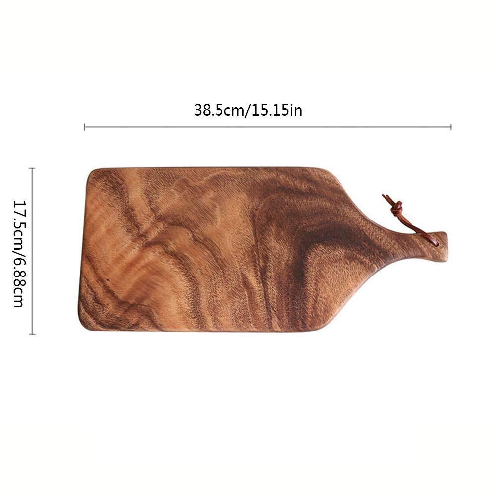 15 7 1 Pulgada bozitian Juego de Tablas de Cortar Bandeja de Tabla de Cortar de Haya de Madera Maciza Placa Rectangular Placa de Madera para Hornear Simple