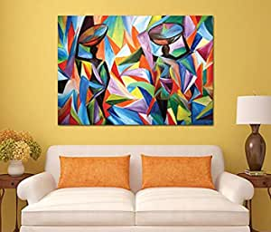 abstract Wooden Tableau, 175X175 Cm - 1 Piece