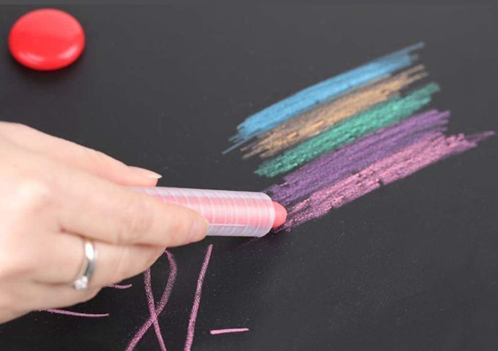 6 Color Dustless Chalk Water Erasable Marker Pen Dust-free Water Soluble Pen 1.0mm Tip Art Tool Kid Non-Toxic Graffiti Drawing Pen Whiteboard Blackboard Writing Chalk Toy Home Coloring Pen