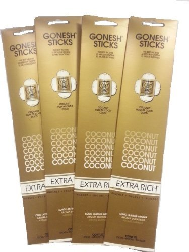 Coconut Incense Sticks - Gonesh Incense Sticks - Coconut lot of 4